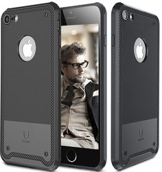 IPhone 7 Case [Shield] [Flash Diffuser] [Scratch Resist] [Shockproof] [Carbon Fiber] Texture TPU Case Cover for Apple IPhone 7 - Black: Cell Phones & Accessories
