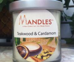 MAN Candle...Teakwood & Cardamom Candle...candles for him...in scents men like. $15.95 with 40+ hours of burn time.