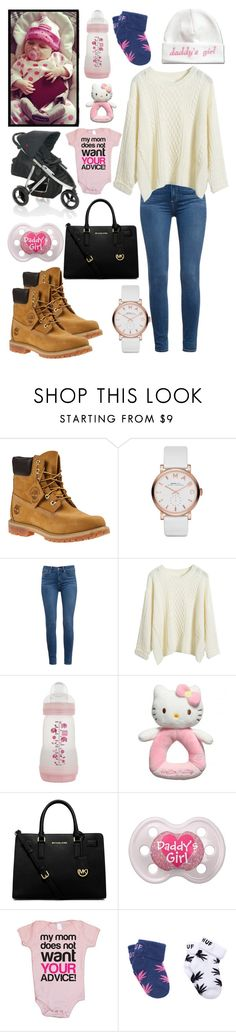 """""""Me and my baby"""" by call-me-eminems-wife ❤ liked on Polyvore featuring Timberland, Marc by Marc Jacobs, Paige Denim, Hello Kitty, Michael Kors, women's clothing, women, female, woman and misses"""