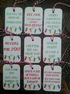 The best do it yourself gifts fun clever and unique diy craft christmas humor funny gift tags by sparklydream on etsy solutioingenieria Choice Image