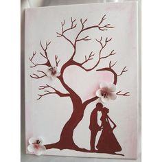 Wedding tree auf Leinwand Gästebuch. von BriDehCollection auf Etsy