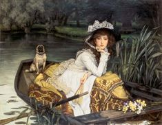 Young woman in the boat - James Tissot