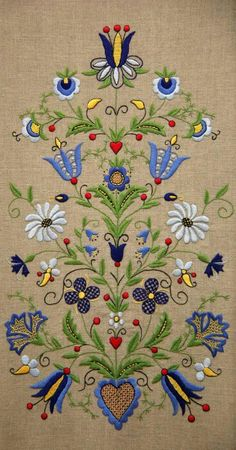 Folk pattern embroidery