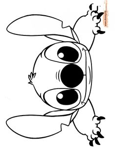 Stitch Coloring Pages, Cute Coloring Pages, Cartoon Coloring Pages, Printable Coloring Pages, Coloring Books, Free Disney Coloring Pages, Coloring Pages Nature, Lilo And Stich, Lilo And Stitch Drawings