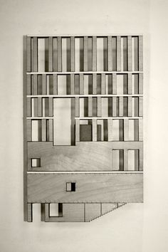 Rafael Moneo. Murcia town hall. facade model