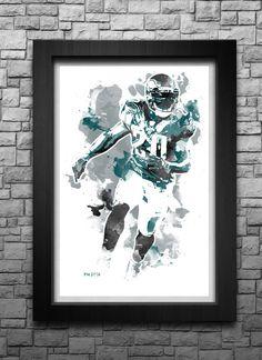 BRIAN DAWKINS watercolor style limited edition by BreakawaySports fa4ebf524