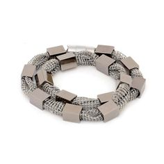 Cube Double Wrap Bracelet Gray, $57, now featured on Fab.