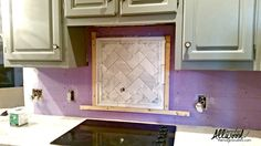 tile design behind stove