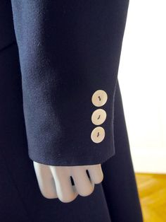 European Vintage Navy Blue Blazer Coat Women's, Dark Blue Wool Coat, French Design, German Vintage Coat Pearl Buttons: Size 16 US, 20 UK by YouLookAmazing on Etsy