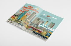 Convene magazine - American city illustration on Behance