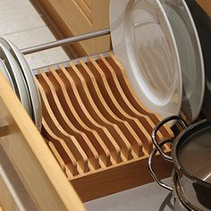 Wood Plate Rack For Vertical Plate Storage By Wood Plate Rack For Vertical Plate - Table Settings Plate Rack Wall, Diy Plate Rack, Plate Storage, Plate Holder, Bungalow Kitchen, Home Decor Kitchen, Kitchen Furniture, Kitchen Design, Kitchen Sink Sizes