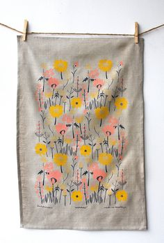 Meadow Tea Towel by leahduncan