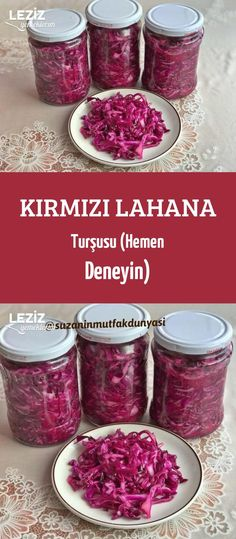 Red Pickled Cabbage (Try Now) - My Delicious Food Healthy Eating Tips, Healthy Nutrition, Healthy Drinks, Pickled Red Cabbage, Food Menu, Food Food, Vegetable Drinks, Breakfast Items, Baking Ingredients