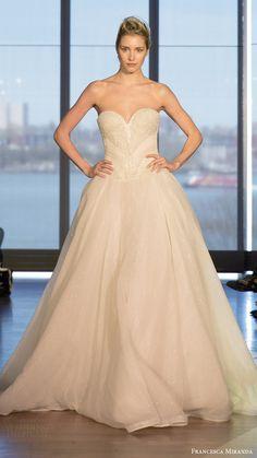 francesca miranda bridal spring 2017 strapless sweetheart ball gown wedding dress (cleopatra) mv