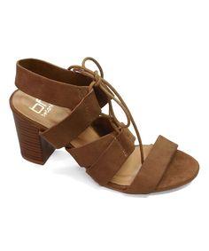 Camel Vivian Lace-Up Sandal