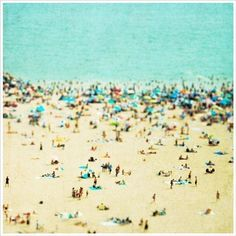 Coney Island Beach Photography, Aerial Beach Photography, Beach Landscape - Ocean Photography, Beach Theme, Nautical, Teal, Turquoise  12x12