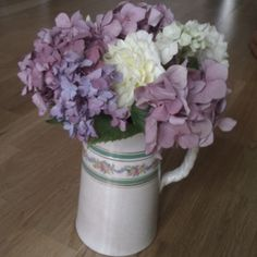 """Vintage jug and """"just because"""" flowers from a lovely friend"""