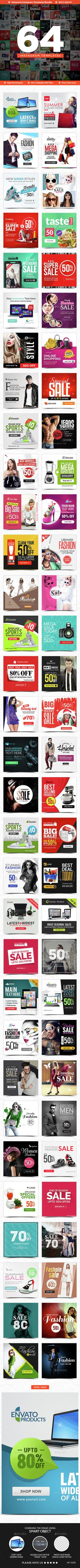 Instagram Templates Bundle - 64 Designs PSD. Download here: http://graphicriver.net/item/instagram-templates-bundle-64-designs/14751658?ref=ksioks