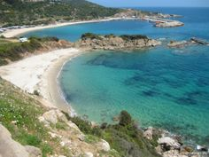 Ahlada - sandy beach outside Sarti; beach in Sithonia, Halkidiki Beautiful Places, Amazing Places, Green Nature, Strand, The Good Place, Places To Go, Wonderland, The Outsiders, Beach
