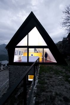 A-FRAME! House at the Pyrenees by Cadaval & Solà-Morales. 9/4/2012 via @Contemporist .com