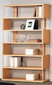 Moderna estantería de barras ideal para tu sala, habitación u oficina.   Colores Disponibles: Blanco, Haya, Peral, Cedro, Wengué Medidas: 110 X 29 X 191 cm