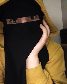 Niqab Fashion, Cute Eyes, Black Gloves, Beautiful Hijab, Hijabs, Drawing, Elegant, Art, Classy