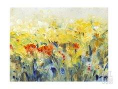 Flowers Sway II Premium Giclee Print by Tim O'toole at Art.com
