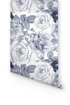 DESCRIPTION Transform any room in your home into a floral paradise with this adhesive wallpaper! This vinyl wallpaper features a soft pastel print of blue garde Vinyl Wallpaper, Print Wallpaper, Self Adhesive Wallpaper, Flower Wallpaper, Peel And Stick Wallpaper, Wallpaper Ideas, Apple Tree Flowers, Cherry Blossom Flowers, Blue Bell Flowers