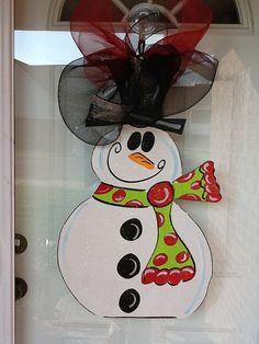 Door Hanger: Snowman, Christmas, Holiday Decoration
