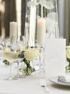 White roses & white wine