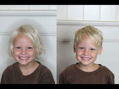 How to cut a BOYS haircut! Easy kids haircutting at home.--cute middle length look Little Boy Hairstyles, Toddler Boy Haircuts, Haircuts For Long Hair, Trendy Haircuts, Long Hair Cuts, Girl Hairstyles, Long Hair Styles, Baby Boy Haircuts, Kids Cuts