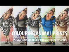 Colouring Animal Prints Using Copic Markers and Art Impressions - YouTube