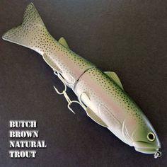 Deps Slide Swimmer 250 swimbait bass fishing lure. Color: BB NATURAL TROUT #deps