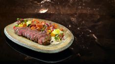 Sonya & Hadil's Chargrilled Lamb with Moutabel and Fattoush Salad