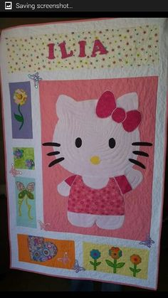 Hello kitty personalised quilt