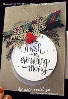 Stampin Up 2017 Holiday Catalogue #christimasaroundtheworld #readyforchristmas