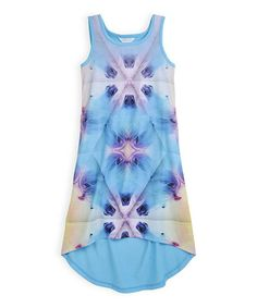 Love this Orchid Ice Photographic Knit Hi-Low Dress - Girls by Pumpkin Patch on #zulily! #zulilyfinds