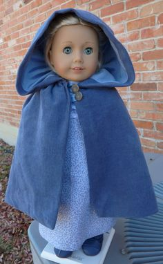 Empress' Secret Closet -  We recently purchased this lovely blue Regency Dress and Winter Cape from Designed4Dolls via Etsy.