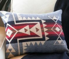 Pendleton Pillow Uncovet...I need a pattern like to to make throw pillows out of! <3 To JoAnns I go!