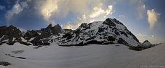 Photographie de ciel montagne hiver neige lever du soleil matin Grande Casse Vanoise Savoie Alpes France Mountain Snow Winter Alps sky sun morning