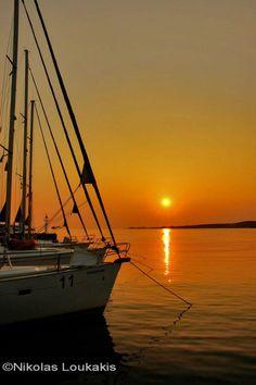 Amazing sunset at sea...