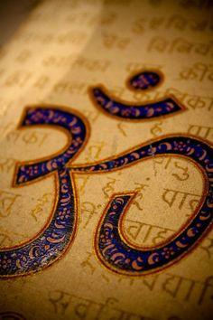 AUM~~as it is written in Sanskrit. The basis of all sounds; universal symbol-word for God. Aum of the Vedas became the sacred word Hum of the Tibetans; Amin of the Moslems; and Amen of the Egptians, Greeks, Romans, Jews, and Christians. Aum is the all-pervading sound emanating from the - Invisible Cosmic Vibration; God in the aspect of Creator...Paramahansa Yogananda