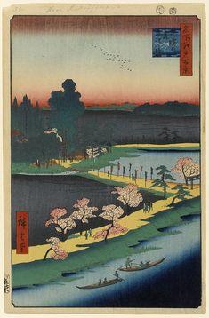 31.(春)吾嬬の森連理の梓 あずまのもりれんりのあずさ (Spring)Azuma no mori renri no azusa