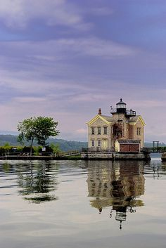 Saugerties Lighthouse, Hudson River north of Saugerties, NY