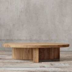 Reclaimed Russian Oak Plank Round Coffee Table at RH, $2,795