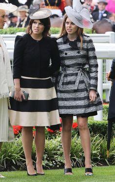 Princess Beatrice - Princess Eugenie  Royal Ascot 2013
