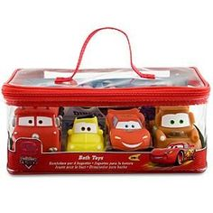 Amazon.com: Disney Cars Bath Toys Set - 4 Pc.: Toys & Games