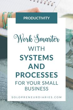 Business management tips - Systems and processes help you to work smarter and improve your business productivity. This is true for any entrepreneur business - creative, freelance, online, or brick & mortar. Click through for tips to get started. Business Help, Starting A Business, Business Planning, Creative Business, Online Business, Business Ideas, Business Essentials, Business Coaching, Successful Business