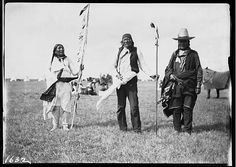 Chief Hairy Bear, Chief White Eagle and Chief Big Elk. Sun Dance 1905