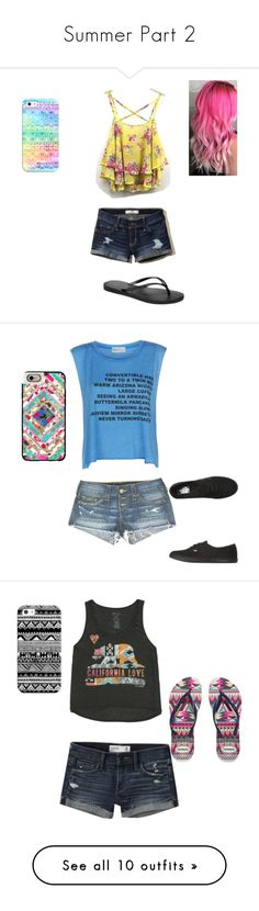"""Summer Part 2"" by agirl13-1 ❤ liked on Polyvore featuring Hollister Co., Havaianas, Casetify, True Religion, Wildfox, Vans, Abercrombie & Fitch, Billabong, LE3NO and Keds"